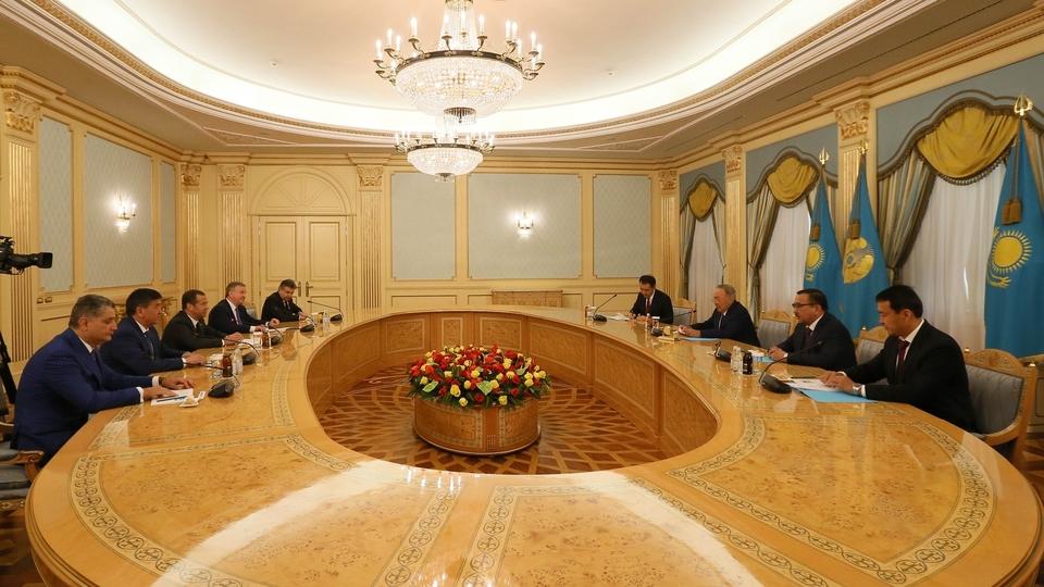 Встреча глав делегаций - участников заседания Евразийского межправительственного совета с Президентом Республики Казахстан Нурсултаном Назарбаевым