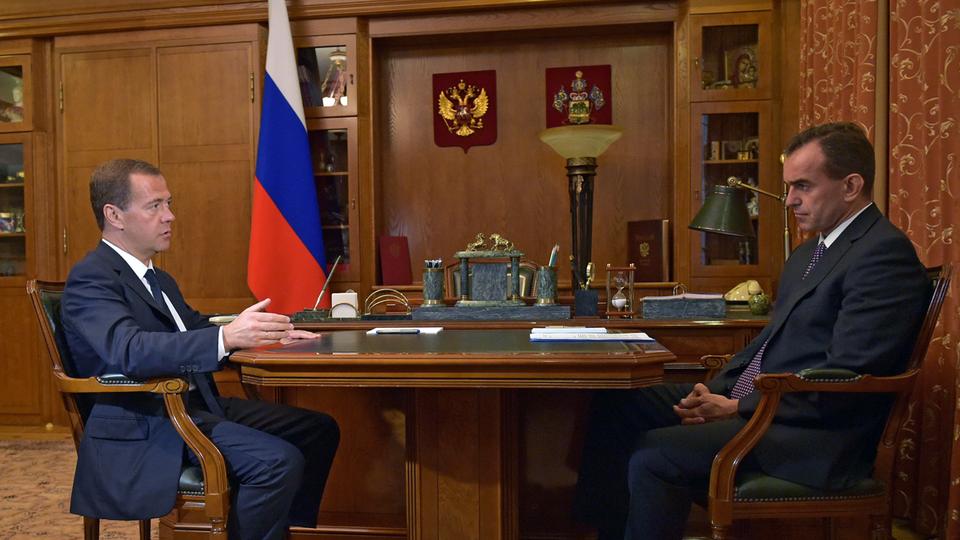 Рабочая встреча с временно исполняющим обязанности губернатора Краснодарского края Вениамином Кондратьевым
