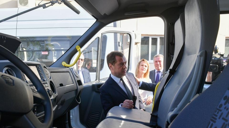 Осмотр автобусов «ГАЗель NEXT», поставленных за счёт средств федерального бюджета в Ростовскую область в 2019 году в рамках федерального проекта «Старшее поколение»