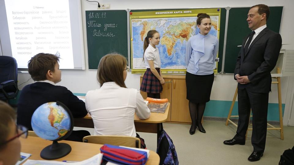 Посещение средней общеобразовательной школы № 66 имени Евгения Дороша в Краснодаре