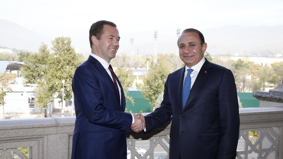 Встреча с Премьер-министром Республики Армения Овиком Абраамяном