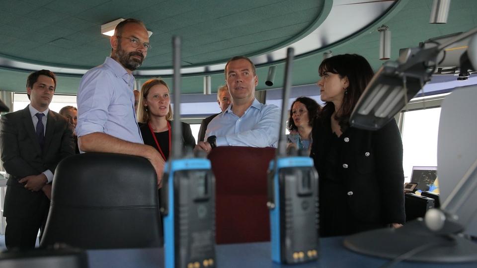 Посещение Центра управления навигации морского порта Гавра