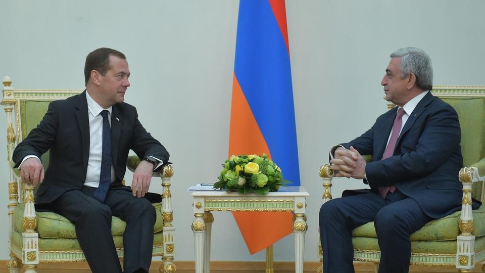 Беседа с Президентом Республики Армения Сержем Саргсяном