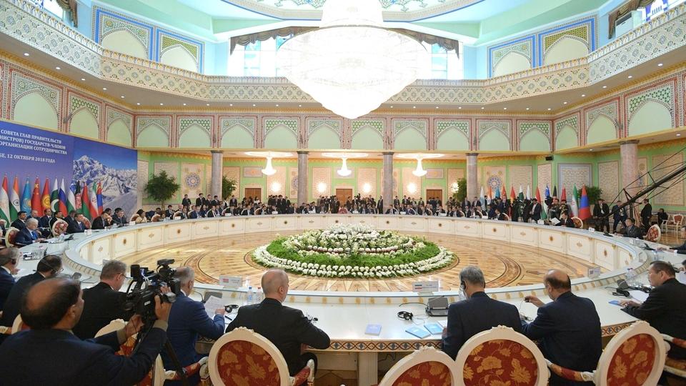 Заседание Совета глав правительств государств-членов ШОС в расширенном составе