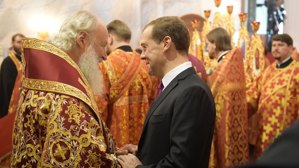 С Патриархом Кириллом на церемонии освящения Воскресенского собора Ново-Иерусалимского ставропигиального мужского монастыря
