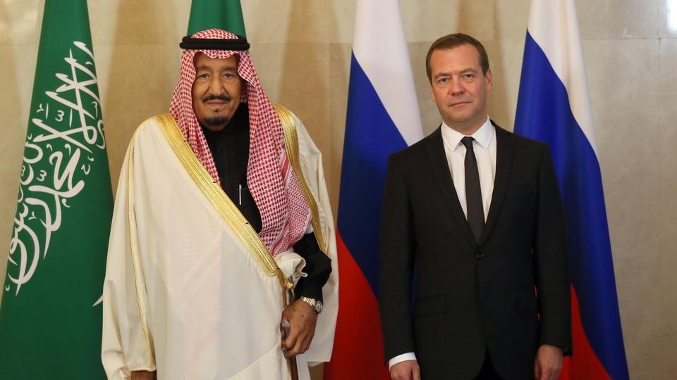 Встреча Дмитрия Медведева с Королём Саудовской Аравии Сальманом бен Абдель Азизом Аль Саудом