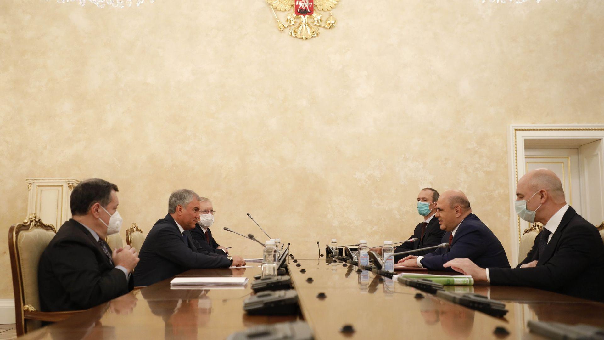 Михаил Мишустин встретился с руководством Государственной Думы