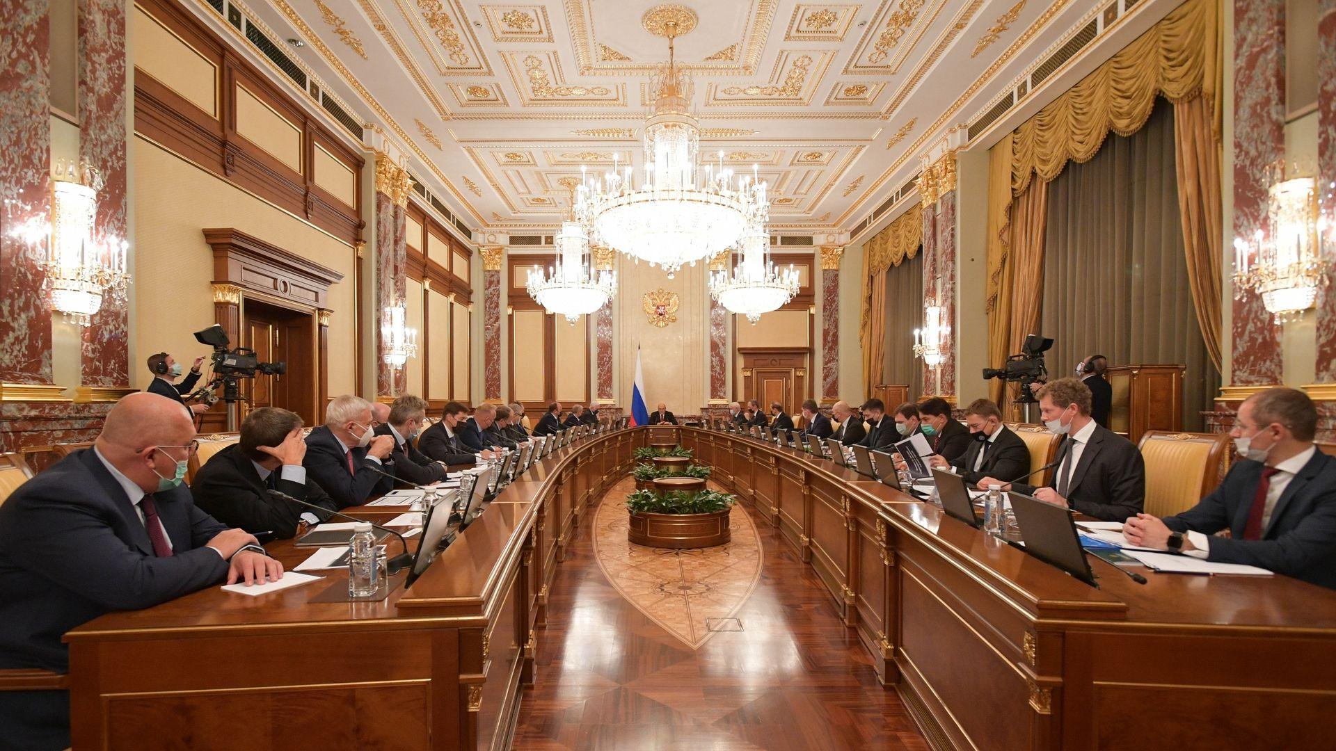 Встреча  Михаила Мишустина с  членами бюро правления РСПП