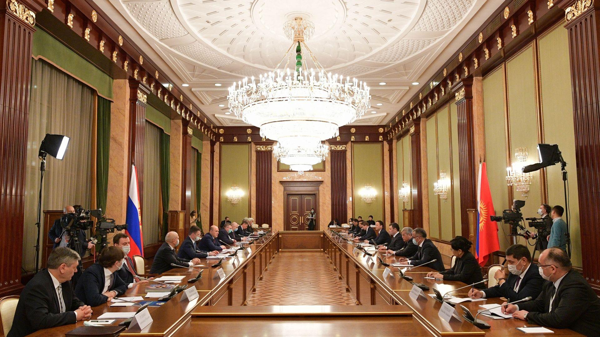 Встреча Михаила Мишустина с Президентом Киргизской Республики Садыром Жапаровым
