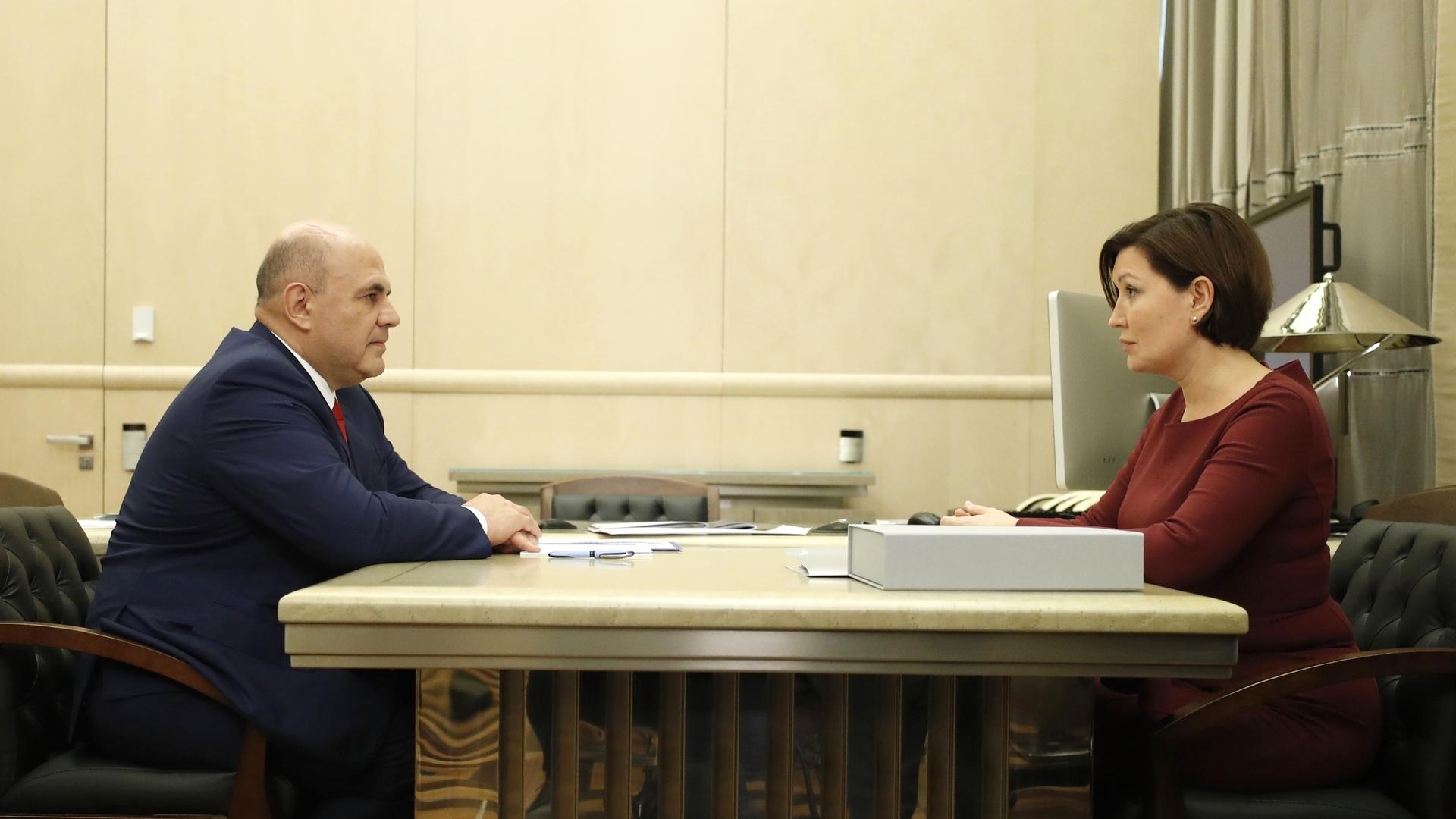 Встреча Михаила Мишустина с генеральным директором АНО «Агентство стратегических инициатив» Светланой Чупшевой