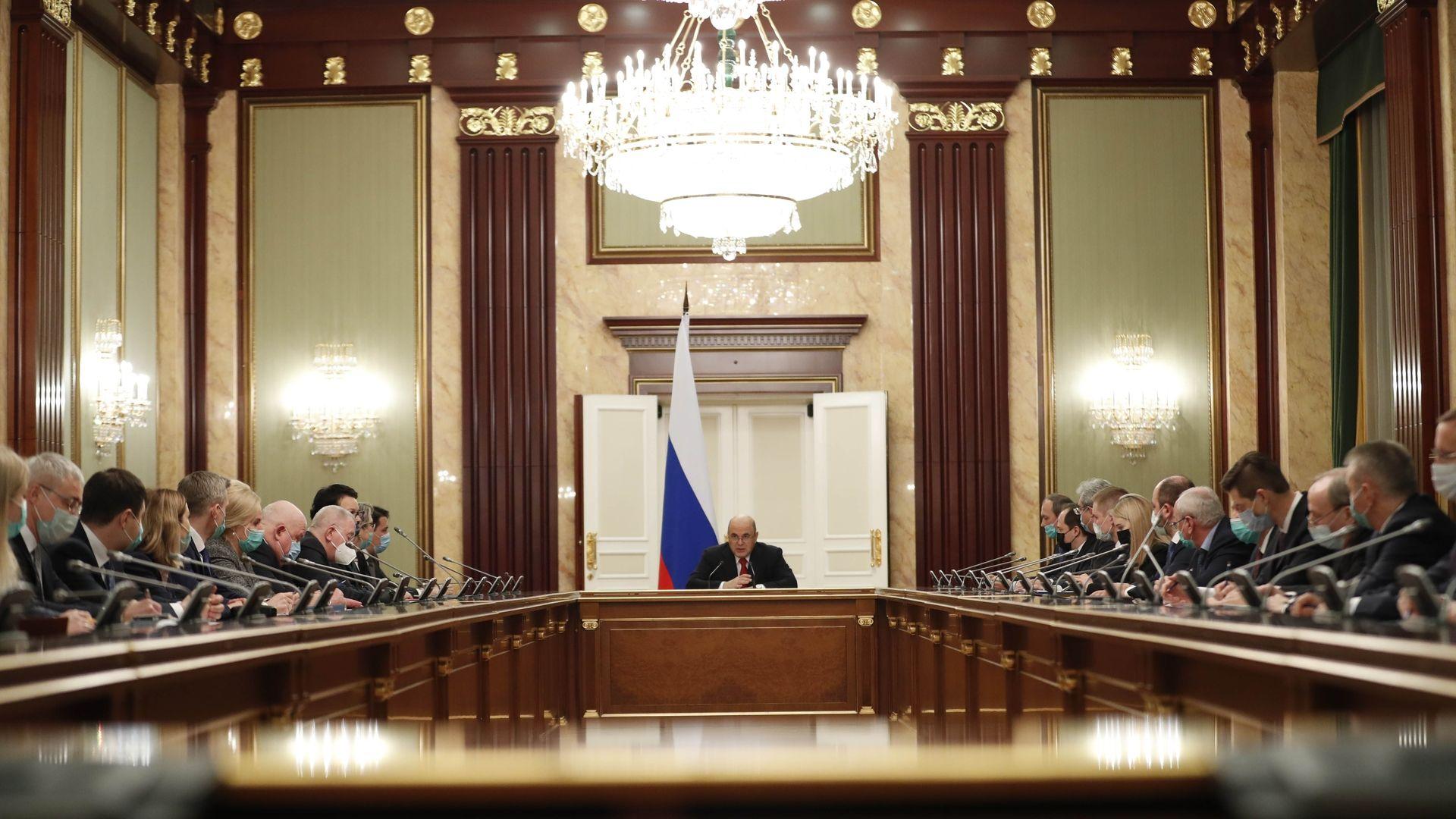Рабочее совещание с руководством Аппарата Правительства Российской Федерации