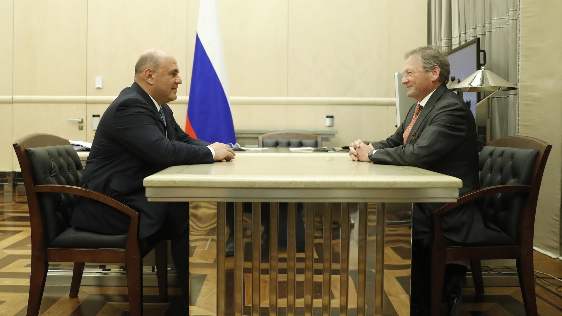 Михаил Мишустин и Борис Титов обсудили поддержку бизнеса и улучшение делового климата