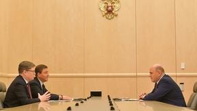 Встреча Михаила Мишустина с секретарём Генсовета партии «Единая Россия» Андреем Турчаком и членом Высшего совета партии Андреем Исаевым