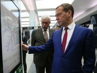 Осмотр новой станции метро «Новокрестовская»