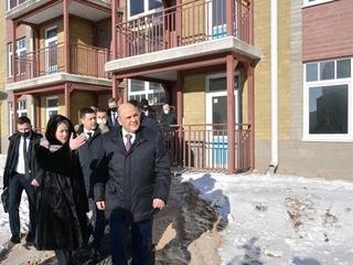 Посещение строящегося комплекса «Социальный городок» в Псковской области