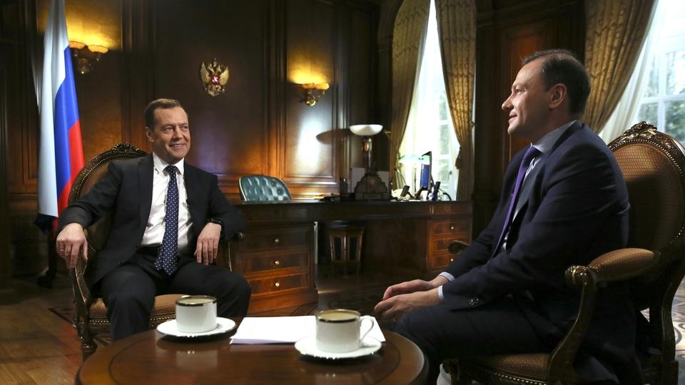 Интервью Дмитрия Медведева ведущему программы «Вести в субботу» телеканала «Россия» Сергею Брилёву